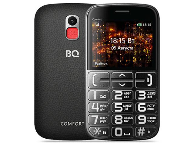 Сотовый телефон BQ 2441 Comfort Black-Silver