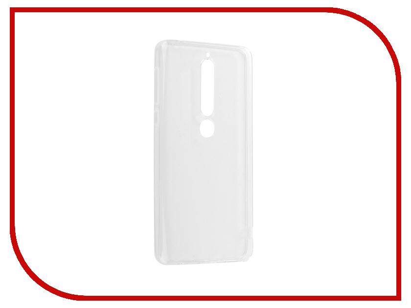 Аксессуар Чехол для Nokia 6 2018 Zibelino Ultra Thin Case White ZUTC-NOK-6-2018-WHT gumai ultra thin protective case for xiaomi 6 black