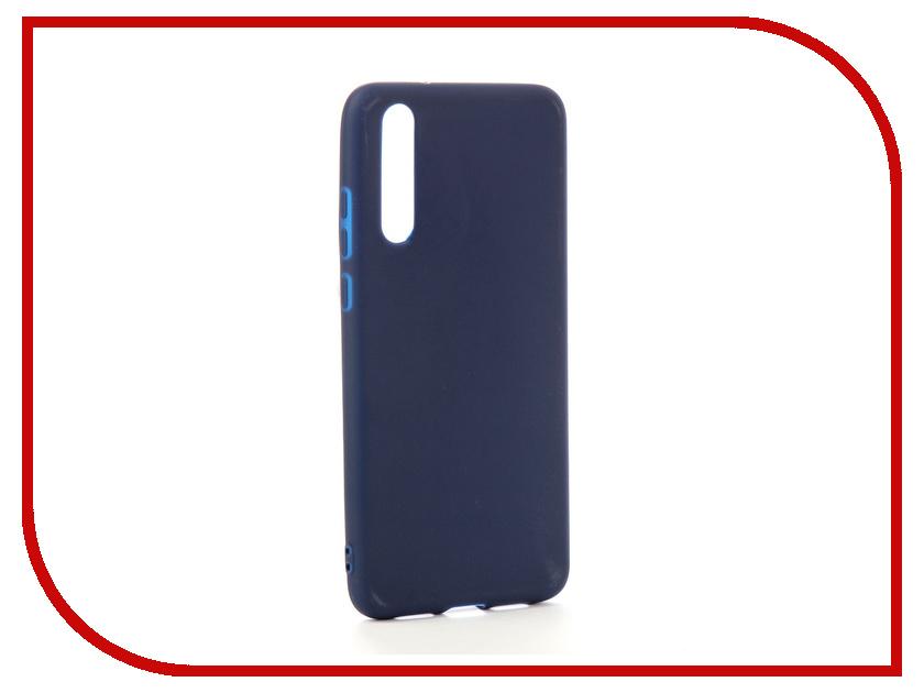 Аксессуар Чехол для Huawei P20 Pro Zibelino Soft Matte Dark Blue ZSM-HUA-P20-PRO-DBLU аксессуар чехол для huawei p20 pro neypo brilliant silicone purple crystals nbrl4566