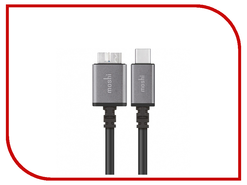 Аксессуар Moshi USB-C - Micro-B 50cm Black 99MO084001 50cm usb 2 0 elbow b male to female cable usb type b wire socket printer panel mount extension cable connector adapter