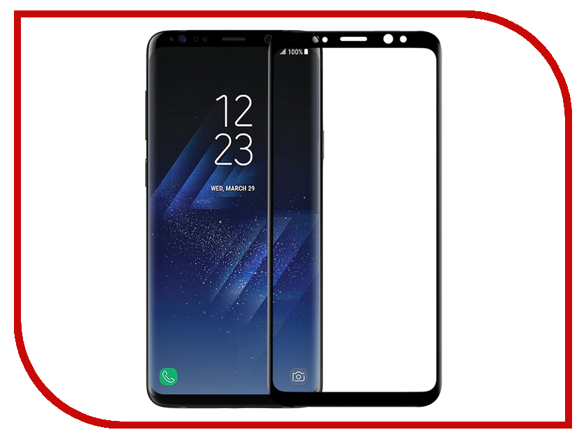Аксессуар Защитное стекло Samsung Galaxy S9 Neypo 3D Full Glass Black Frame NG3D3682 аксессуар защитное стекло samsung galaxy sm g950 s8 activ glass 3d full cover black 70170