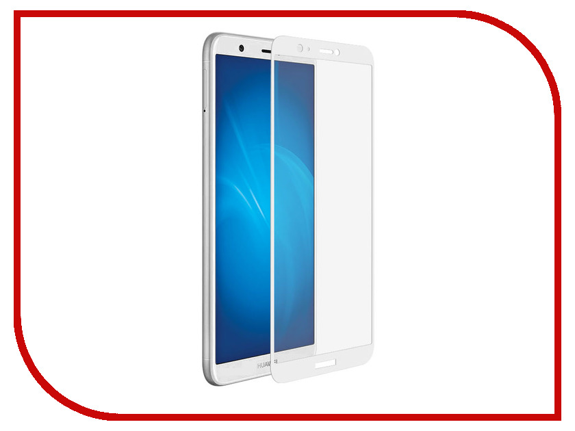 Аксессуар Защитное стекло для Huawei P Smart Neypo Full Screen Glass White Frame NFG3973 10 8 lcd display touch screen panel glass digitizer assembly replacement for dell venue 11 pro 7140 t07g002 frame bezel fhd