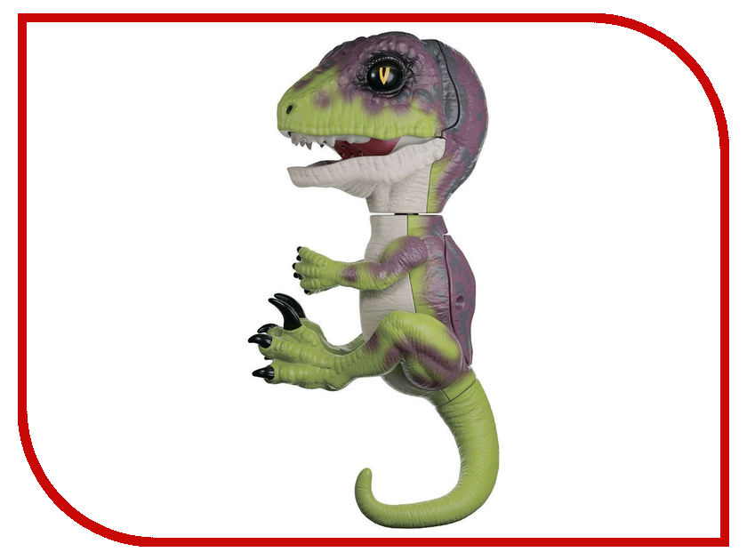 Игрушка WowWee Fingerlings Динозавр Стелс Green-Violet 3782 цена и фото