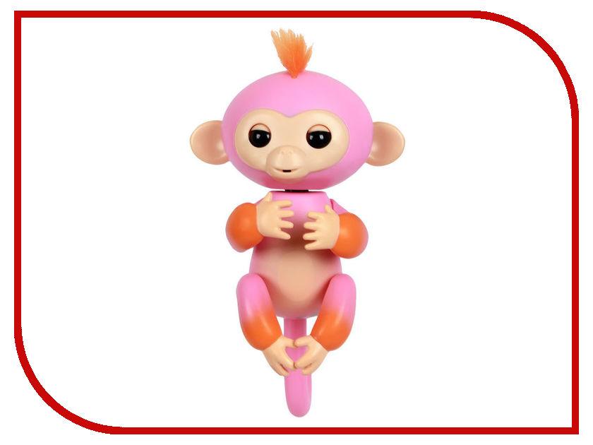 Игрушка WowWee Fingerlings Обезьянка Саммер Pink-Orange 3725 интерактивная игрушка обезьянка wowwee fingerlings финн пластик черный 12 см 3701a