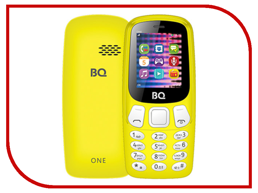 Сотовый телефон BQ BQ-1844 One Yellow телефон bq 1810 pixel