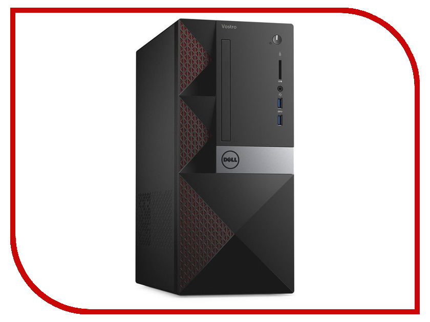 Настольный компьютер Dell Vostro 3667 MT Black 3667-0789 (Intel Core i3-6100 3.7 GHz/4096Mb/1000Gb/nVidia GeForce GT 710 2048Mb/LAN/Wi-Fi/Bluetooth/Windows 10 Home 64-bit) fiscal end aluminum fanless embedded computer with i3 3217u 6com 4g ram onboard 2 intel lan support wake on lan dual 24bit lvds