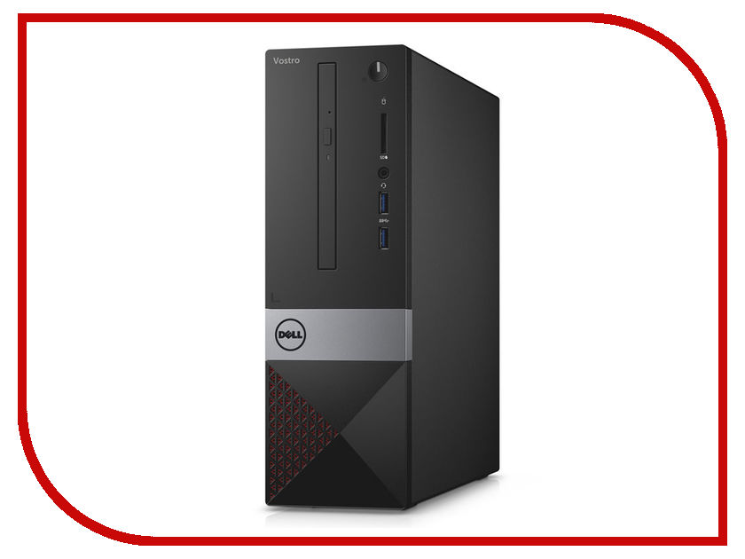 Настольный компьютер Dell Vostro 3268 SFF Black 3268-5503 (Intel Core i5-7400 3.0 GHz/4096Mb/1000Gb/DVD-RW/Intel HD Graphics/LAN/Wi-Fi/Bluetooth/Windows 10 Home 64-bit) diy optic fiber light kit led light 100x1mm 2m optical fibre color change twinkle star ceiling light 20w rf remote