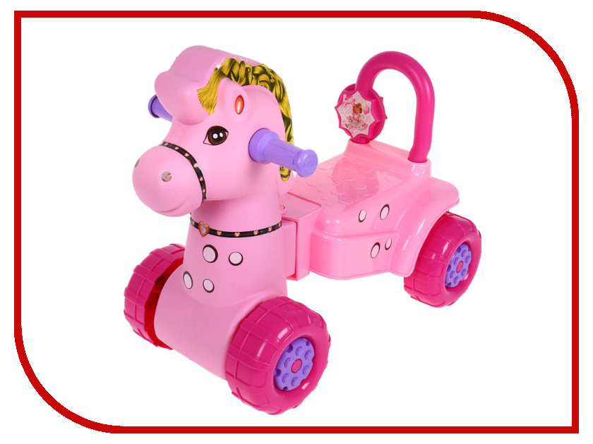 Каталка Альтернатива Лошадка М3896 Pink альтернатива м1681