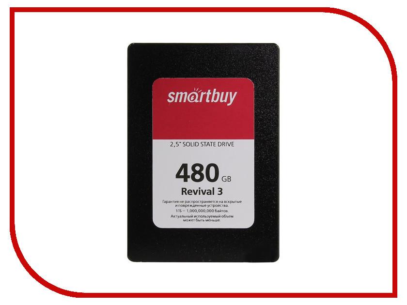 Жесткий диск 480Gb - SmartBuy Revival 3 SB480GB-RVVL3-25SAT3 ssd накопитель smartbuy revival 3 sb120gb rvvl3 25sat3 120gb sata iii 2 5