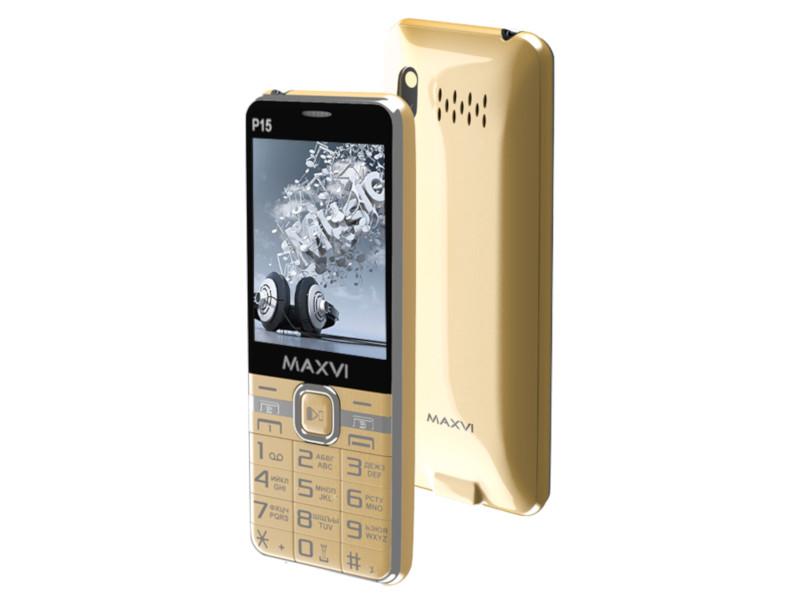 Сотовый телефон Maxvi P15 Gold