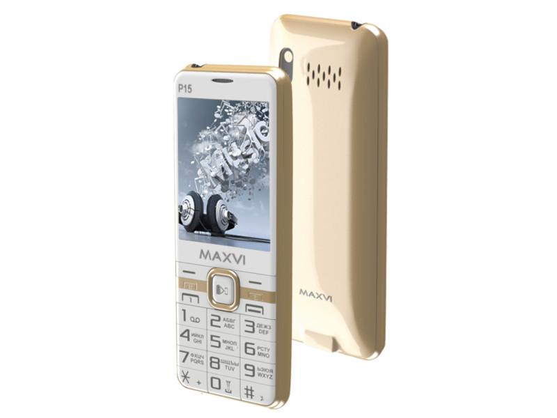 Сотовый телефон Maxvi P15 White Gold
