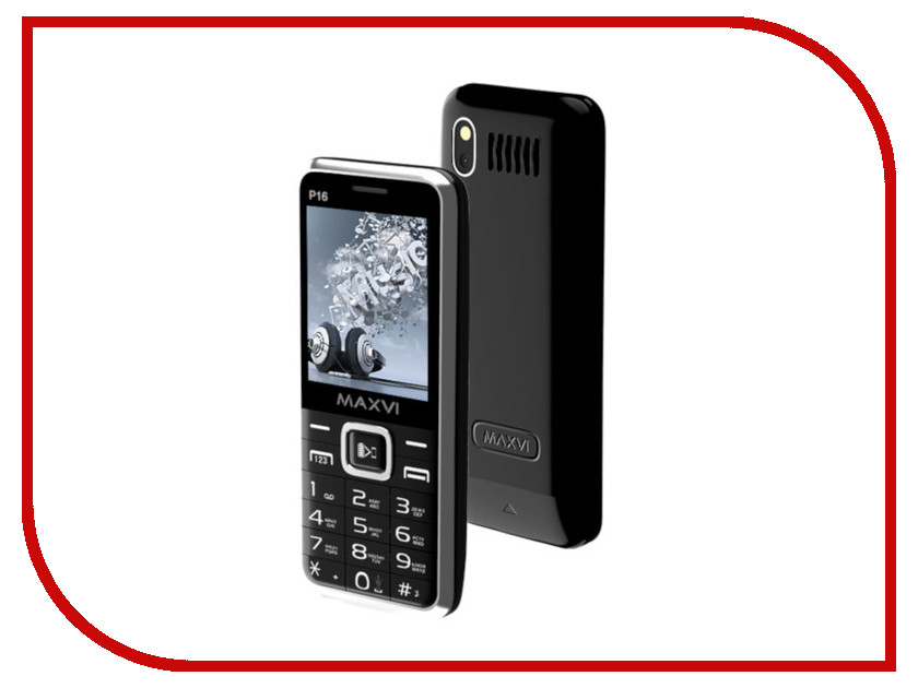 Сотовый телефон Maxvi P16 Black сотовый телефон maxvi p1 blue black