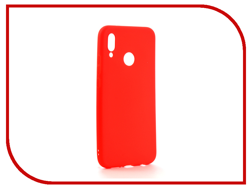 Аксессуар Чехол для Huawei P20 Lite Neypo Soft Matte Silicone Red NST4289