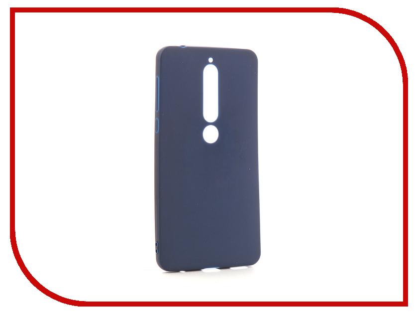 Аксессуар Чехол для Nokia 6 2018 Neypo Soft Matte Silicone Dark Blue NST4300 nokia 230 dark silver