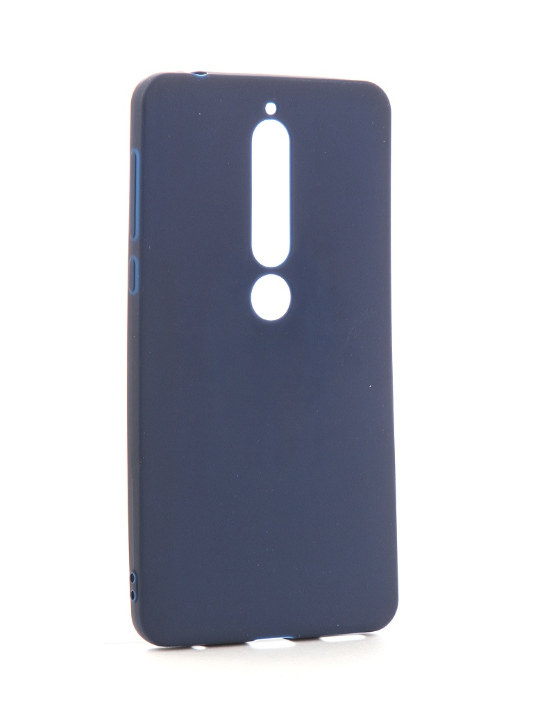 Аксессуар Чехол Neypo для Nokia 6 2018 Soft Matte Silicone Dark Blue NST4300 аксессуар чехол neypo для nokia 6 1 plus x6 2018 soft matte dark blue nst6132