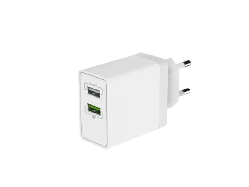 Зарядное устройство Olmio 2xUSB Quick Charge 3.0 30W ПР038465