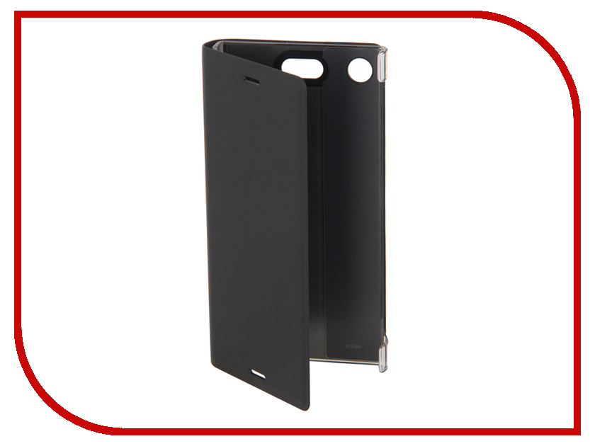 Аксессуар Чехол Sony Xperia XZ1 Compact Cover Stand SCSG60 Black mooncase butterfly style leather side flip wallet card slot stand pouch чехол для sony xperia m2