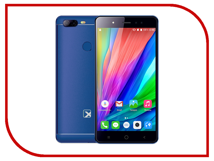 Сотовый телефон teXet TM-5580 Blue texet navipad tm 7858 3g 16gb titanium