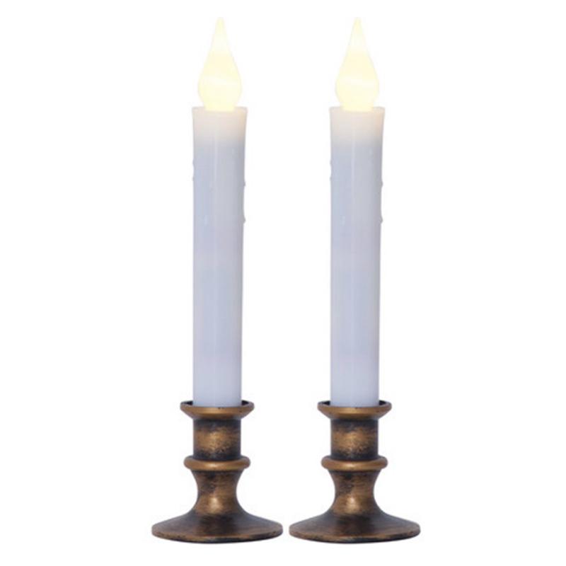 Светодиодная свеча Star Trading LED Press 2шт Bronze 063-64