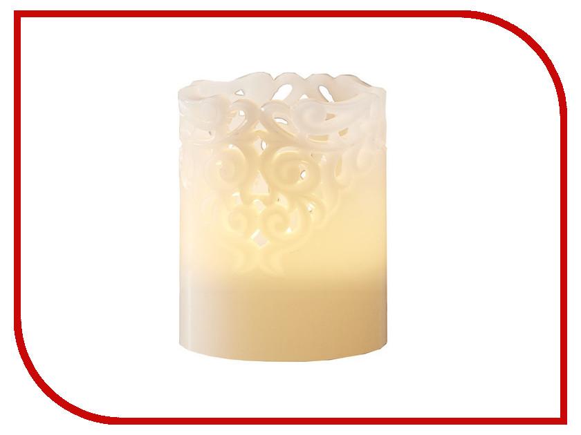 Светодиодная свеча Star Trading LED Clary White 062-23
