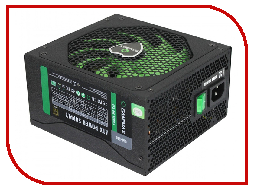 Блок питания GameMax GM-500 500W блок питания gamemax gm 500g 500w