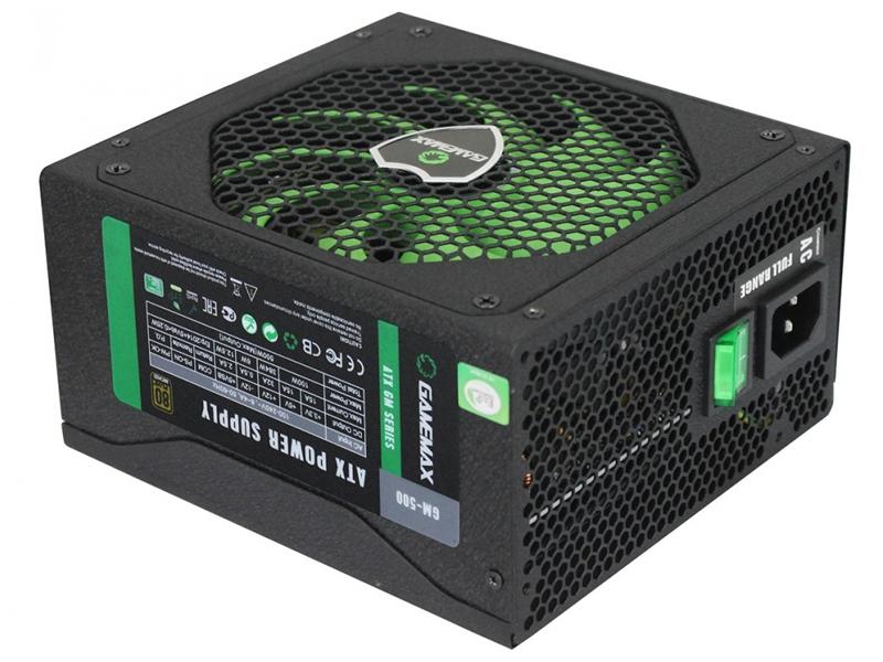 Блок питания GameMax GM-500 500W блок питания atx 500 вт gamemax gm 500 gold