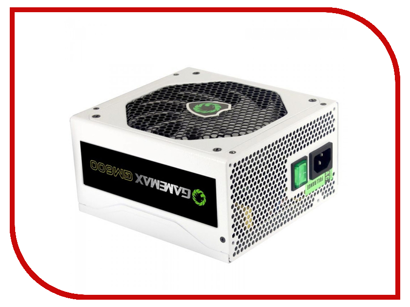Блок питания GameMax GM600 600W White блок питания gamemax gm 500g 500w