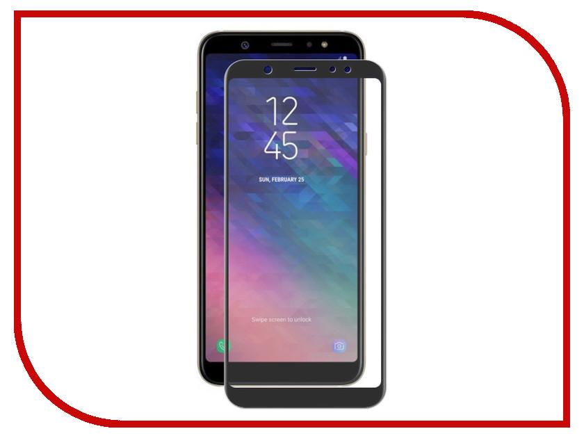 Аксессуар Закаленное стекло Samsung Galaxy A6 2018 DF Full Screen sColor-48 Black аксессуар закаленное стекло samsung galaxy a5 2017 df full screen scolor 16 pink