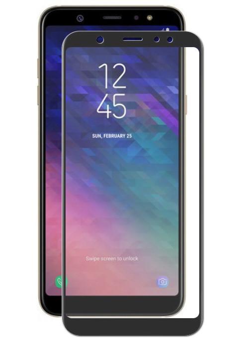 Аксессуар Закаленное стекло DF для Samsung Galaxy A6 2018 Full Screen sColor-48 Black защитное стекло для экрана df scolor 48 для samsung galaxy a6 2018 1 шт черный [df scolor 48 black ]