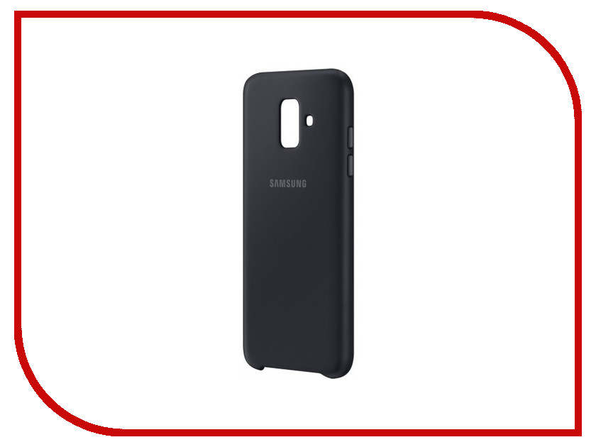 Аксессуар Чехол Samsung Galaxy A6 2018 Dual Layer Cover Black EF-PA600CBEGRU чехол для samsung galaxy j6 2018 samsung dual layer cover ef pj600cbegru black