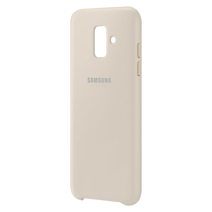 Аксессуар Чехол Samsung Galaxy A6 2018 Dual Layer Cover Gold EF-PA600CFEGRU аксессуар чехол samsung galaxy j2 2018 dual layer cover gold ef pj250cfegru