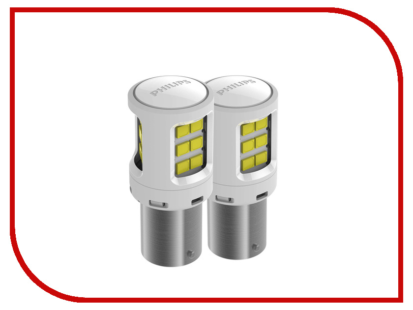 Лампа Philips P21W 12V-24V-2W BA15S LED White 11498ULWX2 (2 штуки)