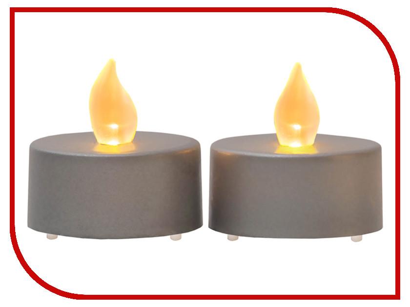 Светодиодная свеча Star Trading LED Paulo 2шт Grey 062-06
