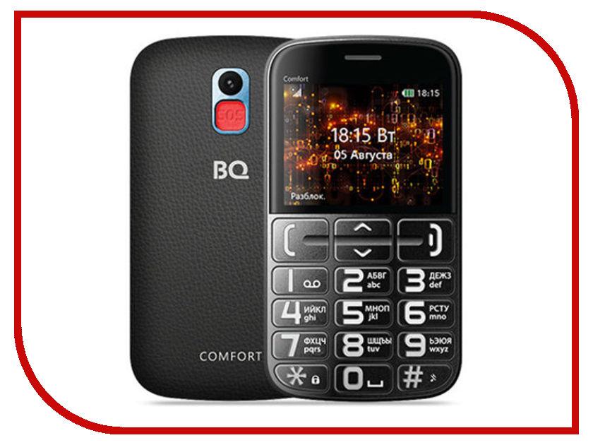 Сотовый телефон BQ 2441 Comfort Blue-Black bq 2441 comfort black silver мобильный телефон
