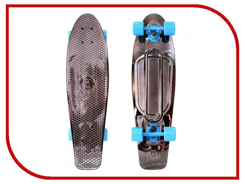 Скейт Y-SCOO Big Fishskateboard Metallic 27 Blue-Black zndiy bry y 6 air pneumatic 6mm y shaped quick fitting push in connectors blue black 10 pcs