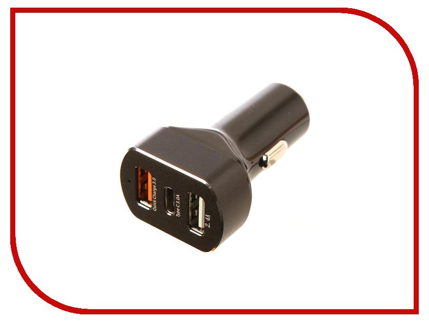 Зарядное устройство Red Line APD-3A Tech 2xUSB + Type-C Black УТ000015302 110db loud security alarm siren horn speaker buzzer black red dc 6 16v