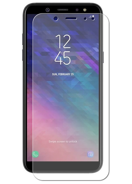 Аксессуар Защитная пленка Red Line для Samsung Galaxy J6 2018 УТ000015486 аксессуар гибридная защитная пленка для samsung galaxy j8 2018 red line ут000015487