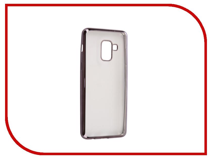 Аксессуар Чехол Samsung Galaxy A8 2018 А530 iBox Blaze Silicone Black Frame аксессуар чехол samsung galaxy a7 2017 with love moscow silicone russia 5090