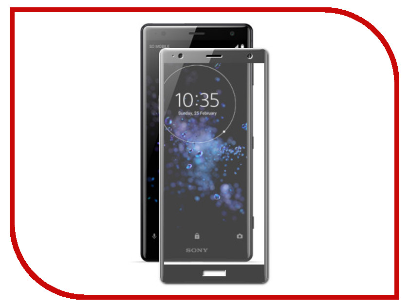 Аксессуар Защитное стекло для Sony Xperia XZ2 Compact Red Line Full Screen 3D Tempered Glass Black УТ000015491 защитная пленка red line для sony xperia x compact full screen