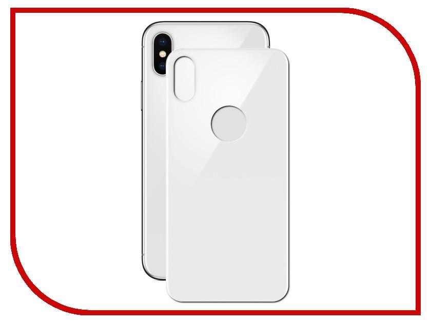 Аксессуар Защитное стекло Red Line Full Screen 3D Tempered Glass для APPLE iPhone X White задняя часть УТ000013945
