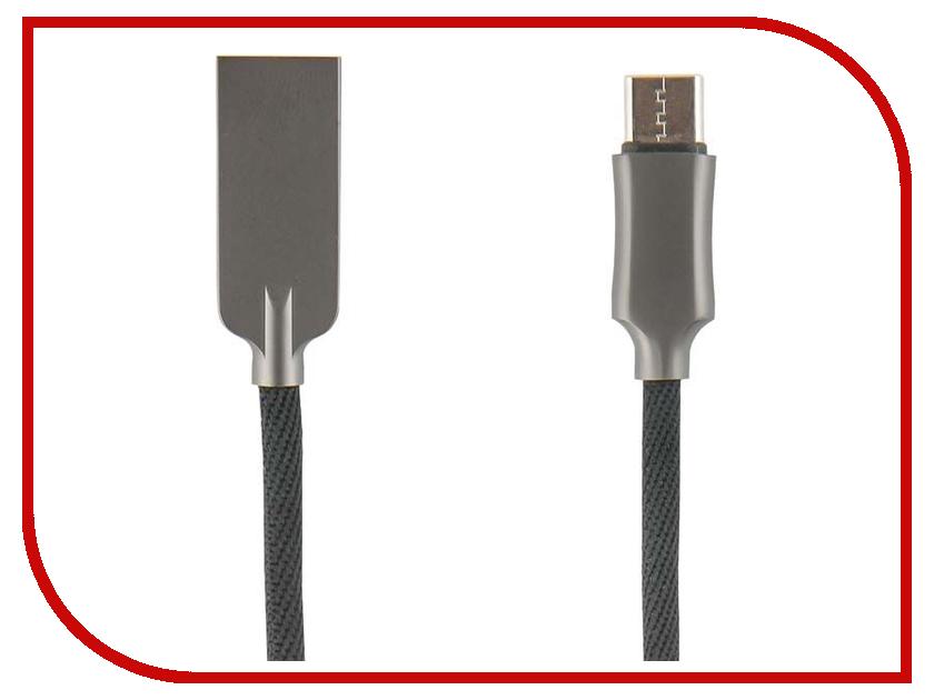 Аксессуар Red Line LX13 Zync Alloy USB - Type-C Black УТ000014184 red line rhombus black кабель usb type c 1 м
