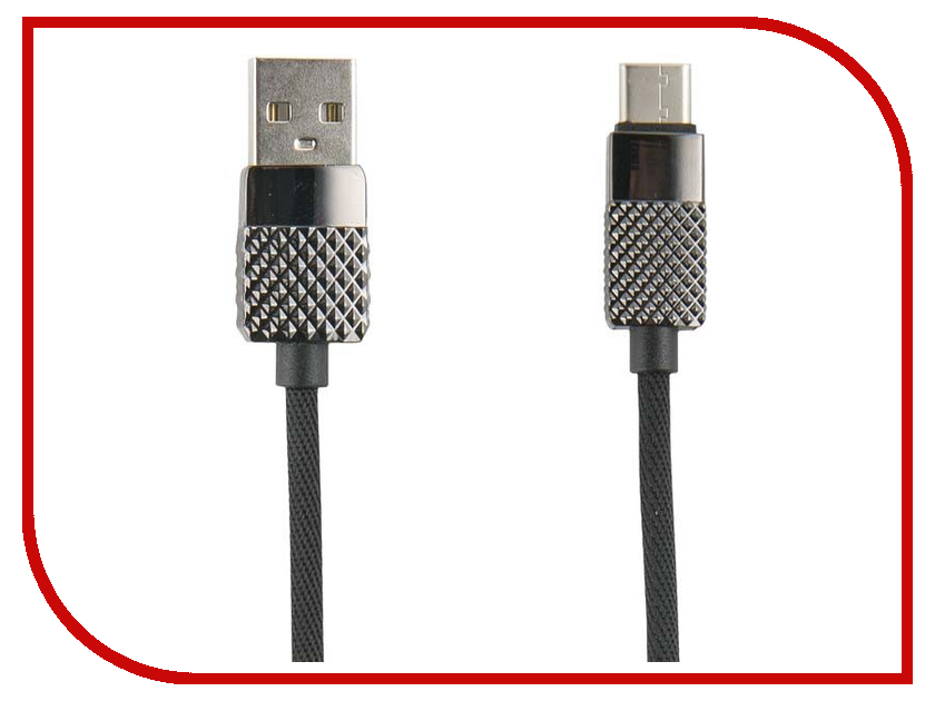 Аксессуар Red Line Rhombus USB - Type-C Black УТ000014190 50pcs micro usb 3 0 male to usb c usb 3 1 type c female extension data cable for macbook tablet 10cm by fedex