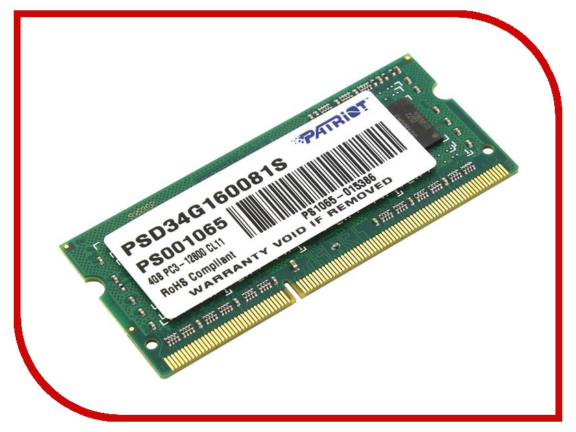 Модуль памяти Patriot Memory PSD34G160081S жесткий диск 512gb patriot memory torch se pts512gs25ssdr
