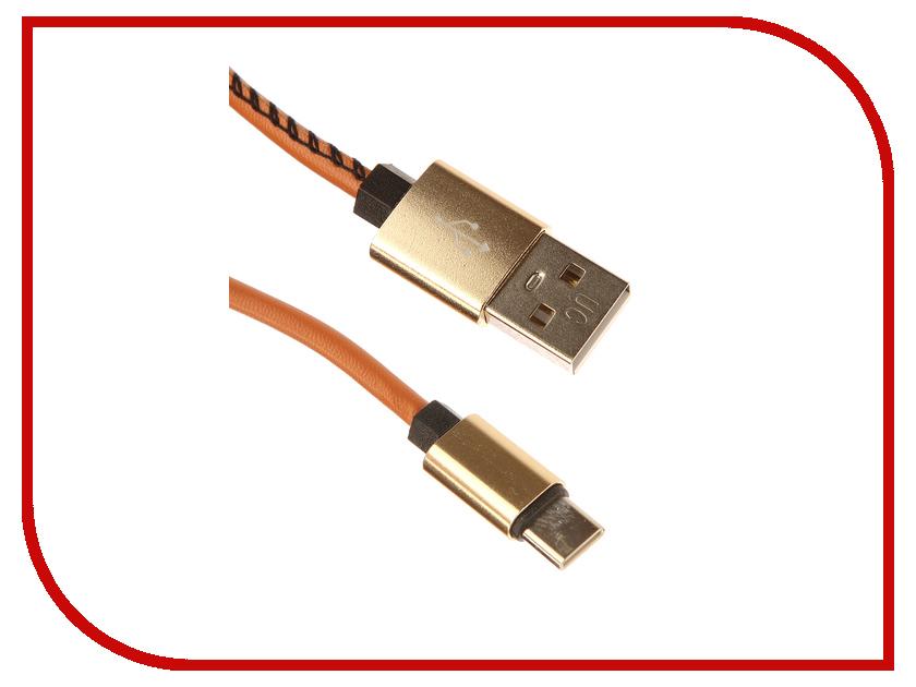 Аксессуар Red Line USB - Type-C 2m Brown УТ000014167 кабель red line classic micro usb 2м белый