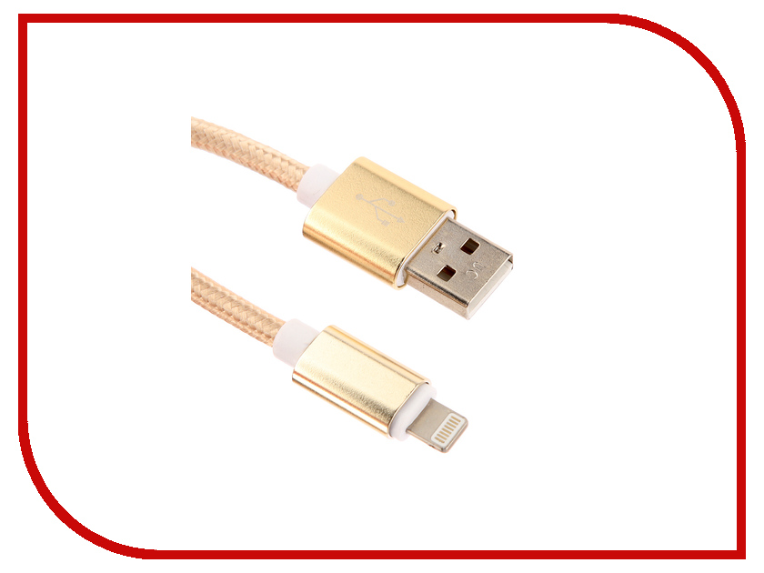 Аксессуар Red Line USB – Lightning 8-pin 2m Gold УТ000014154