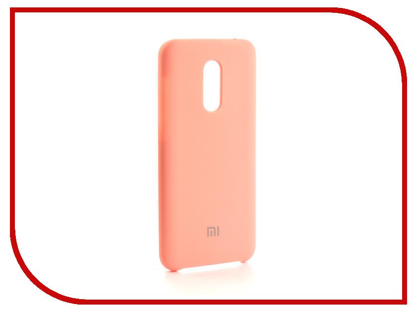 Аксессуар Чехол-накладка для Xiaomi Redmi 5 Plus Gurdini Silicone Cover Pink 905938
