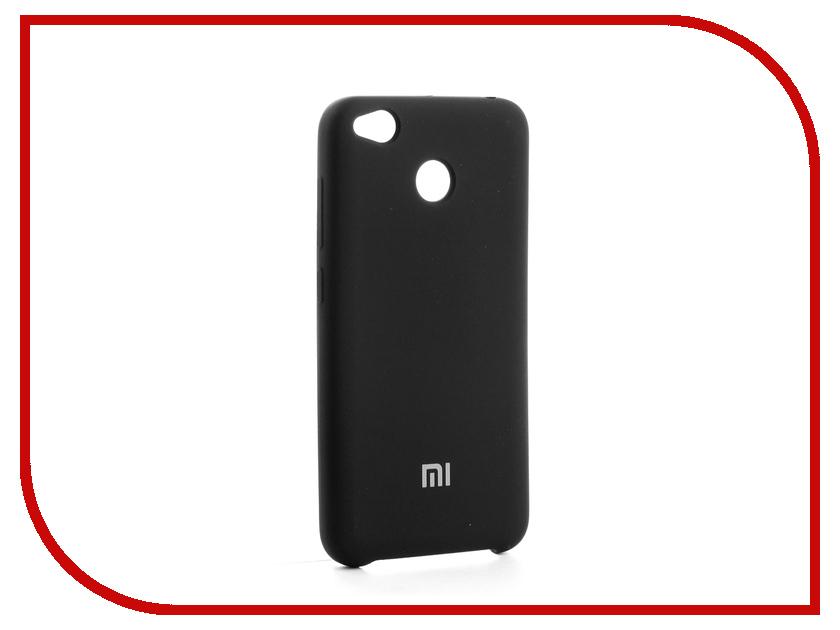 Аксессуар Чехол-накладка Xiaomi Redmi 4X Gurdini Silicone Cover Black аксессуар чехол xiaomi redmi 4 onext silicone transparent 70500