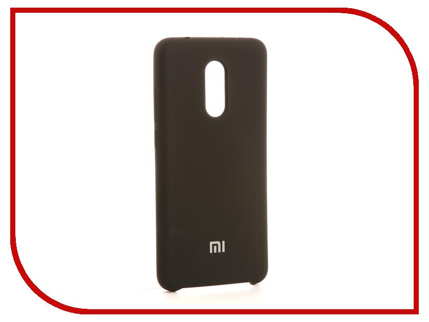Аксессуар Чехол-накладка Xiaomi Redmi 5 Gurdini Silicone Cover Black аксессуар чехол xiaomi redmi 4 onext silicone transparent 70500