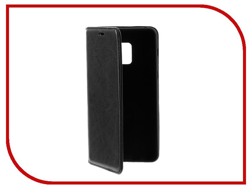 Аксессуар Чехол-книжка для Samsung Galaxy A8 Plus 2018 Gurdini с силиконом на магните Black 905958 цена и фото