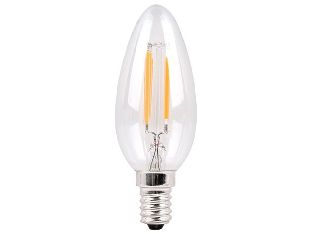 Лампочка Sparkled Filament C37 E14 6W 200-240V 2700K 600Lm LLF35-6E-27